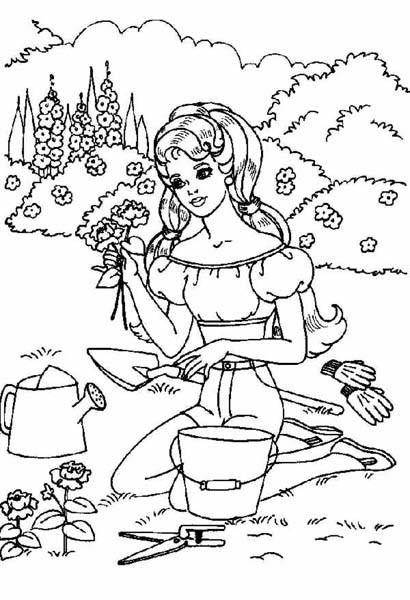Coloriage Jardinage